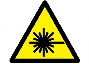 Laser safety warning sign